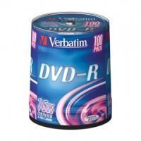 Диск DVD-R Verbatim 4.7 Gb, 16x, Cake Box (100), (100/400)