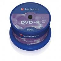 Диск DVD+R Verbatim 4.7 Gb, 16x, Cake Box (50), (50/200)