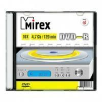 Диск DVD-R Mirex 4.7 Gb, 16x, Slim Case (1), (1/200)